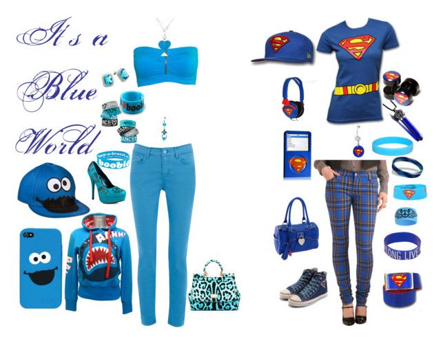 """Contest: It's A Blue World"" by bvb666him ❤ liked on Polyvore featuring Oasis, dreamGEAR, Newbreed Girl, Iron Fist, Dolce&Gabbana, Converse, Antica Murrina, Fantasy Jewelry Box, Keep A Breast and Blu Bijoux"