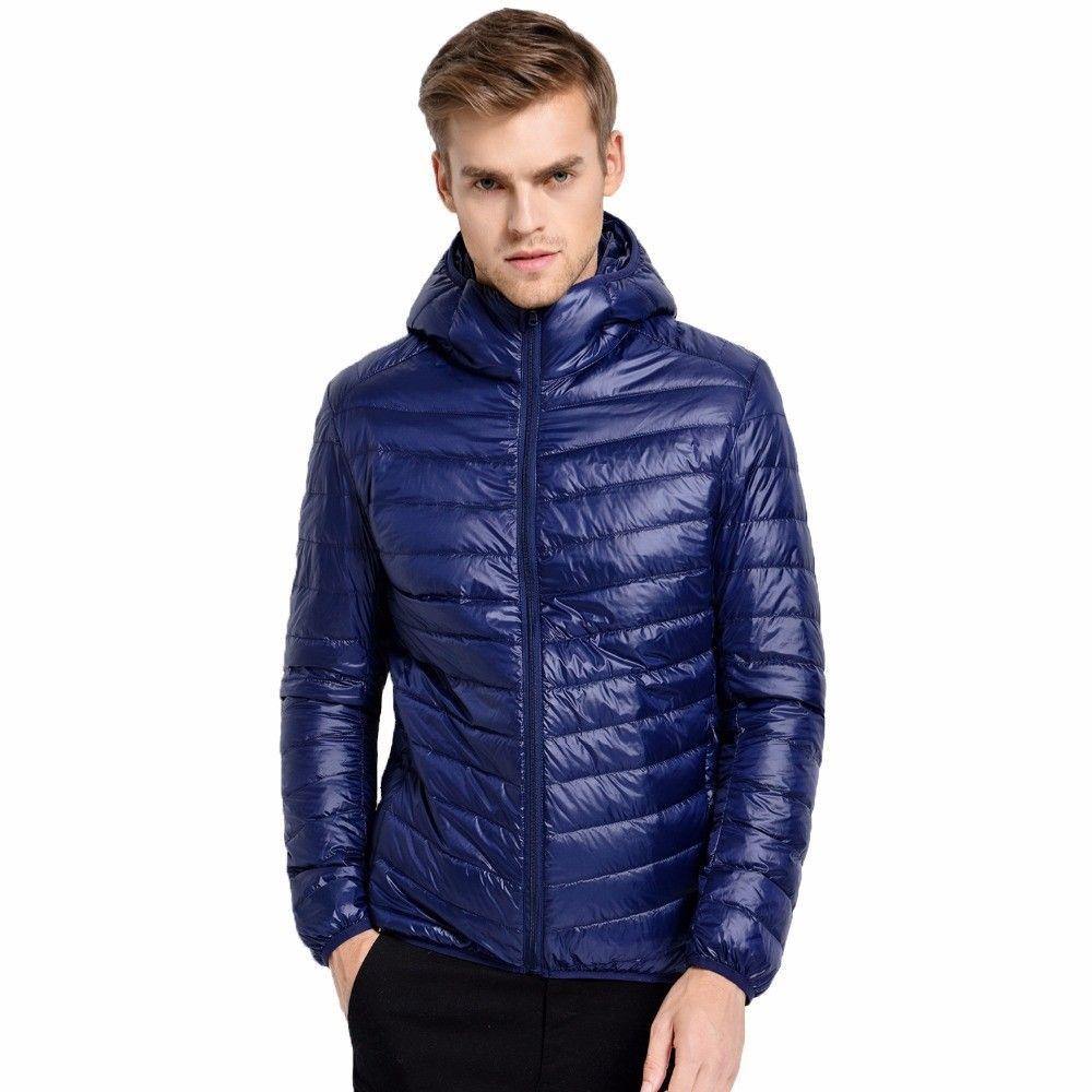 0dc994369fc25 Casual Brand White Duck Down Jacket Men Autumn Winter Warm Coat Men s  Ultralight  Unbranded  Casual