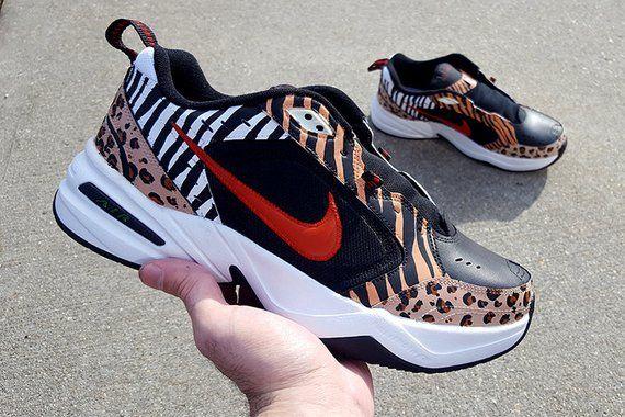 9a79b5b43c4d Custom Nike Air Monarch Shoes | Animal Pack | Dad Shoes | Nike Shoes |  Custom Shoes | Sneakers for M
