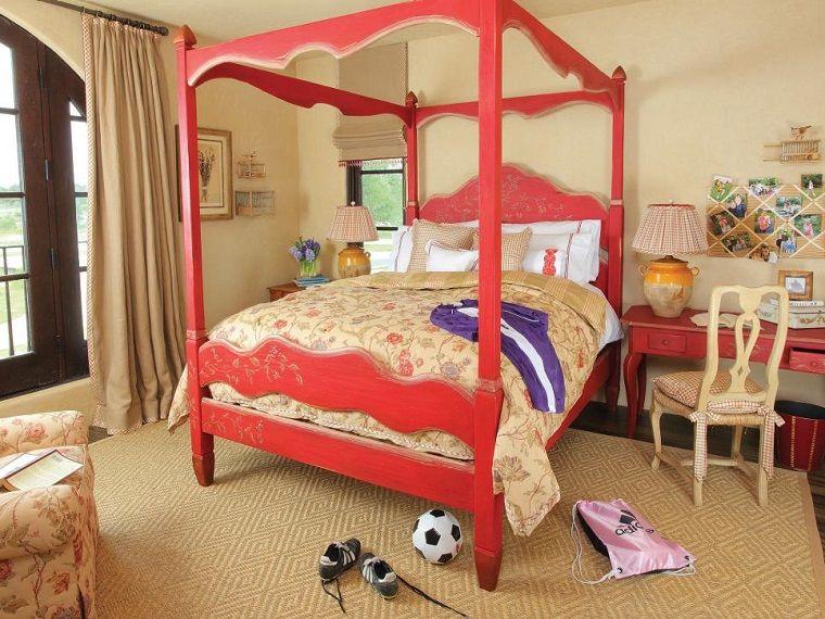 color beige en paredes y cortinas en el dormitorio para