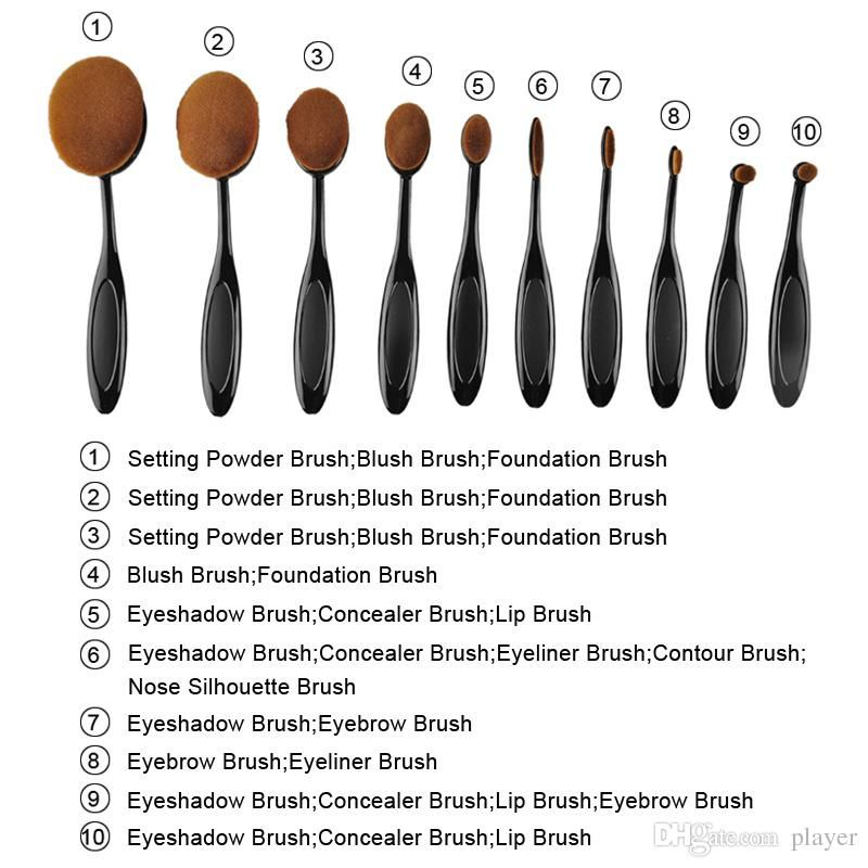 makeup brush set and uses. tooth shape makeup brush oval set multipurpose foundation powder eyeshadow blushes and uses
