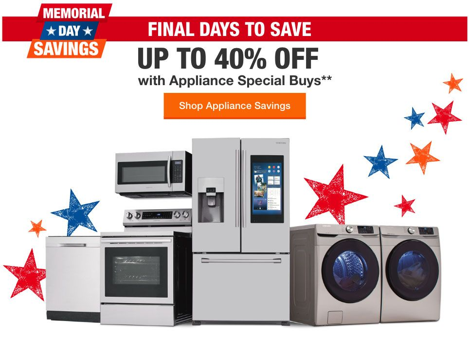 Shop Appliance Savings Home Depot Coupons Appliance Shop Coupons