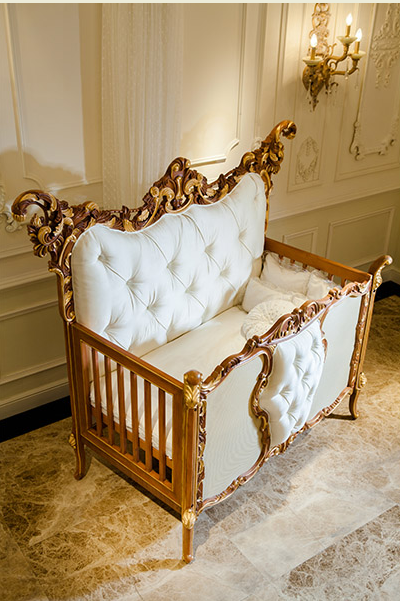 Luxury Baby Crib Mark Bisini
