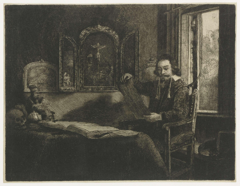 Rembrandt Harmensz. van Rijn   De apotheker Abraham Francen, Rembrandt Harmensz. van Rijn, 1655 - 1659  