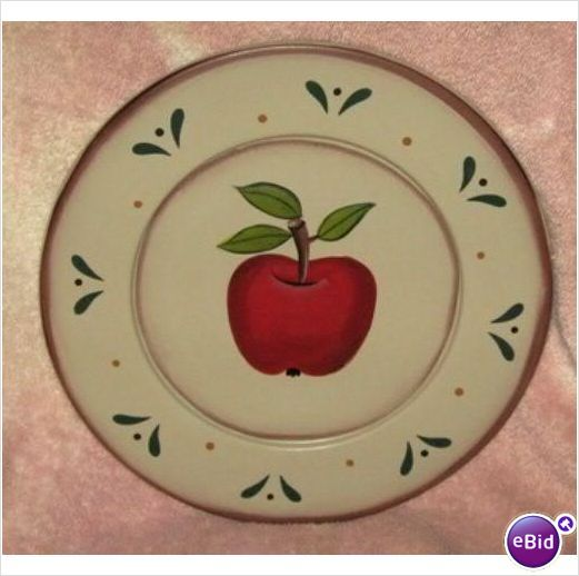 APPLE DECORATIVE WOOD PLATE - Country Decor | Apples ...