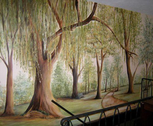 Style Painted Tree Muralmuralist Debbie Ceronewall Murals Tree