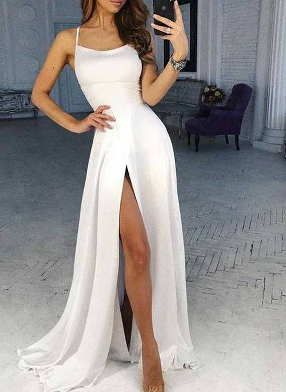 prom dress white slit | beautiful prom dress long | beautiful prom dress long tight