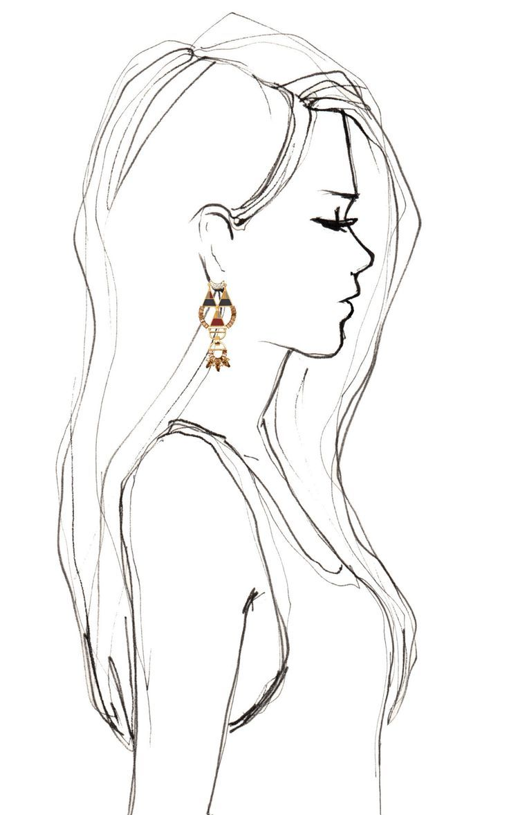 Bochic hemingway earrings great silhouette i always need for Good sketches to draw