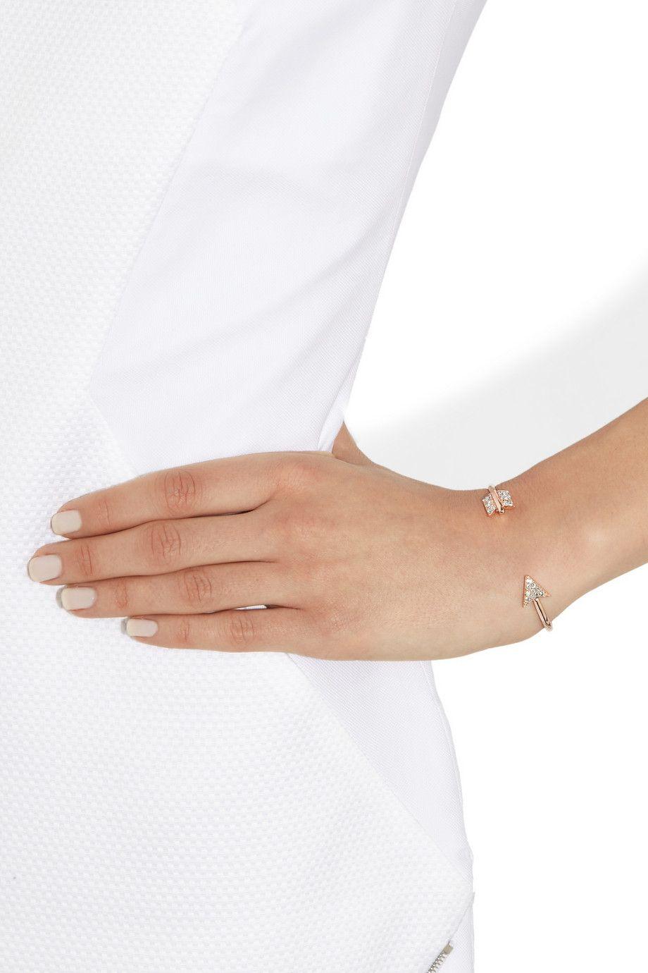 Anita Ko|Arrow 18-karat rose gold bracelet |NET-A-PORTER.COM