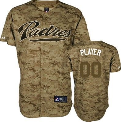 timeless design 84358 c4db1 San Diego Padres Majestic Alternate Digital Camo Baseball ...
