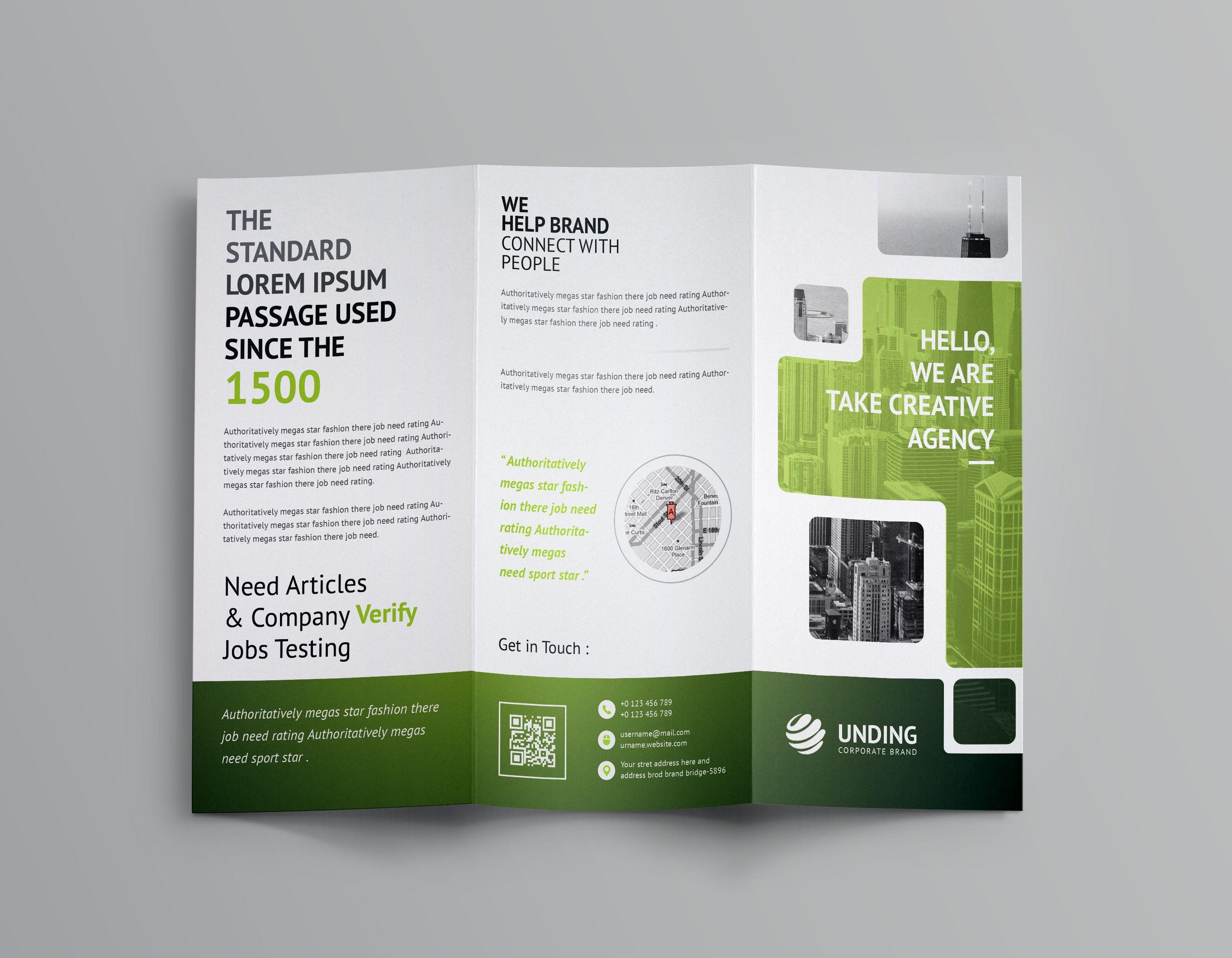 Stunning Corporate Tri Fold Brochure Template Brochure Template