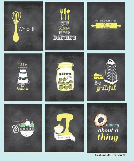 chalkboard inspired art mixer monogram salt and pepper funny kitchen art prints kitchen on kitchen decor paintings prints id=75557