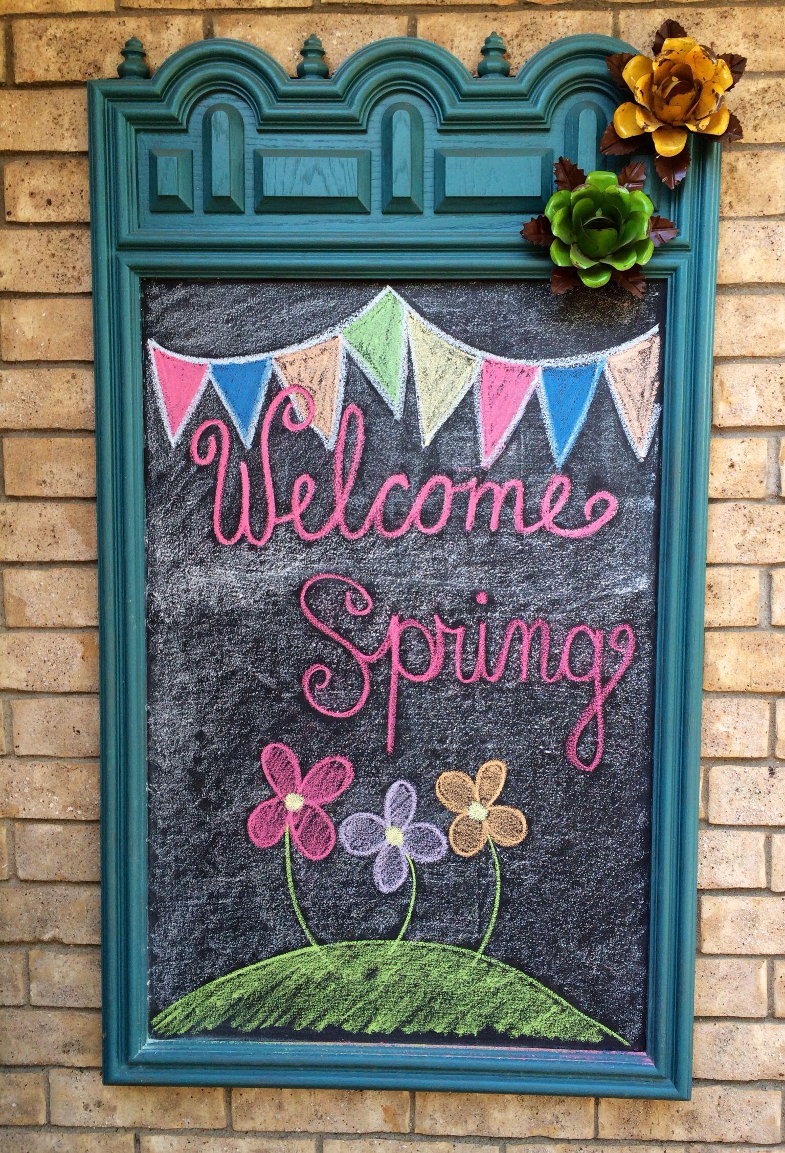 Spring Chalkboard Chalkboard Chalkboard Art