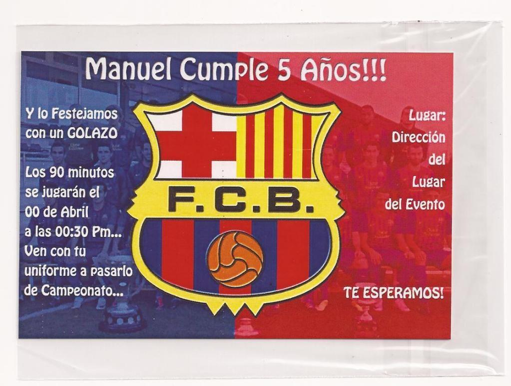 Invitaciones De Cumpleaños De Futbol Para Descargar Gratis