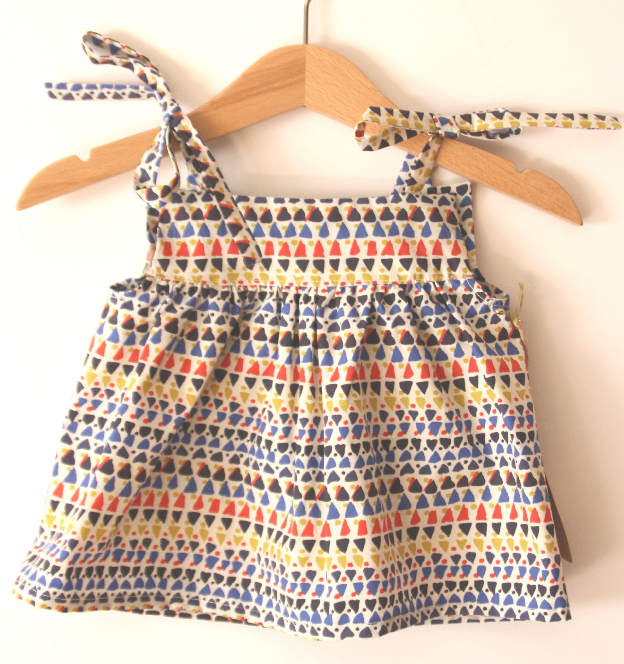 a4596d3bf537 Vestido tirantes tribal niña verano amarillo rojo azul negro ...