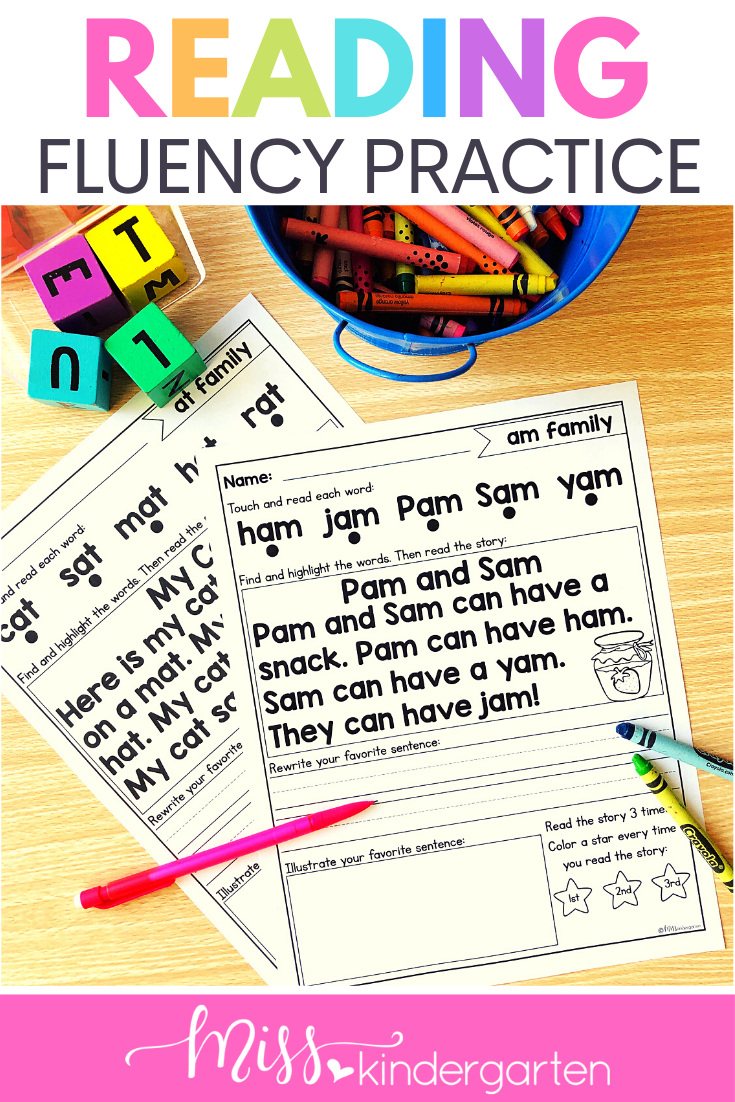 Kindergarten Reading Fluency Reading Fluency Reading Fluency Passages Kindergarten Reading [ 1102 x 735 Pixel ]