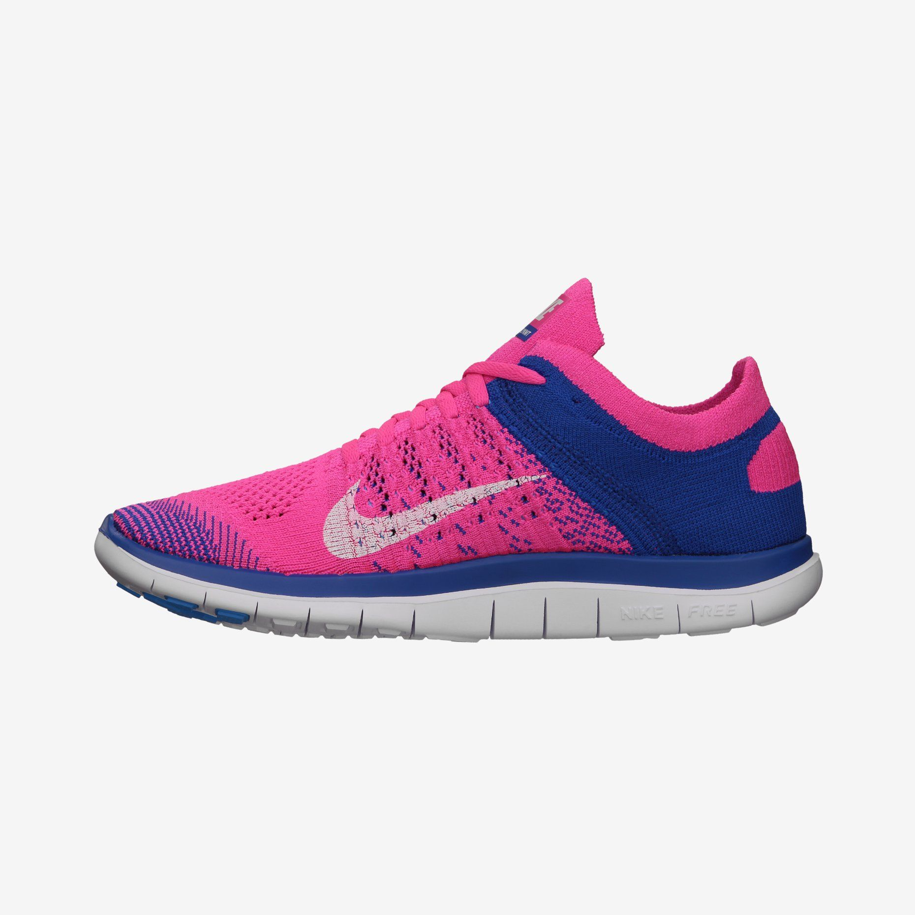 best sneakers 9cf13 b1224 Nike Free 4.0 Flyknit - Pink Flash Game Royal White