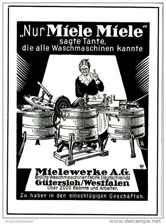 OriginalWerbung/ Anzeige 1929 MIELE WASCHMASCHINEN ca