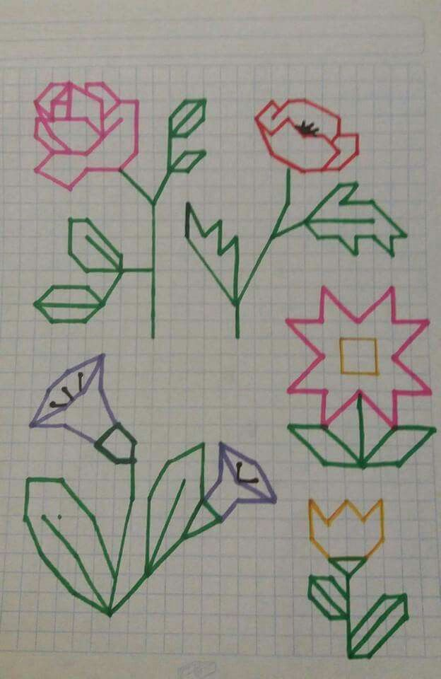 Simple Graph Paper Flowers Gardening Flower And Vegetables