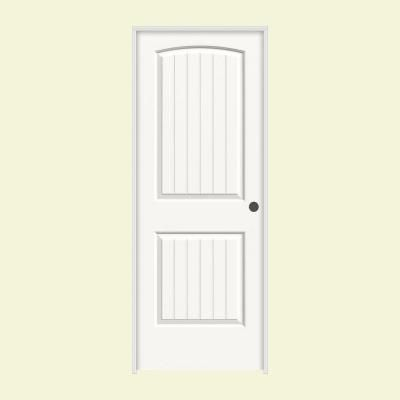 Jeld Wen 24 In X 80 In Santa Fe White Painted Left Hand Smooth Molded Composite Mdf Single