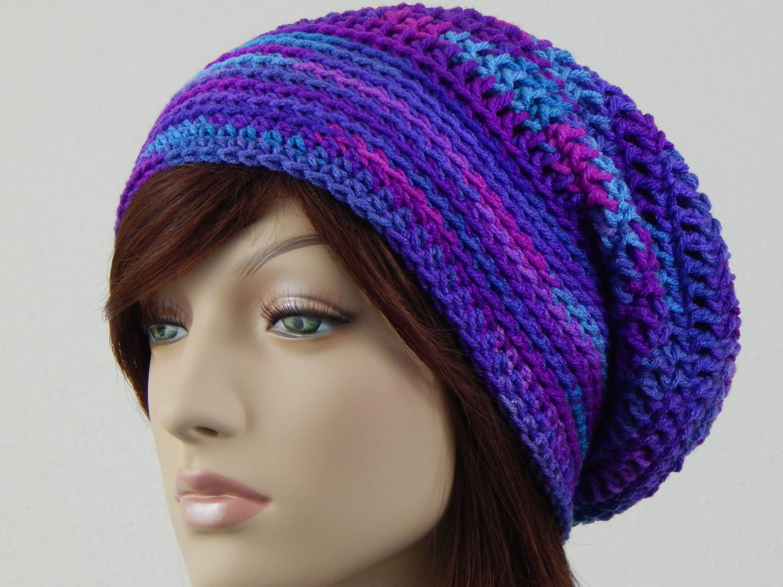 62e2e2dfeeb Purple Pink Blue Slouch Hat