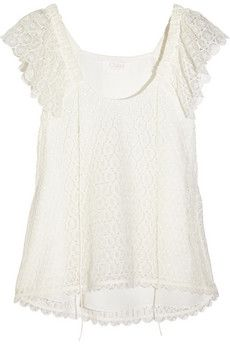 e07326fc9eb Chloé Crocheted lace top