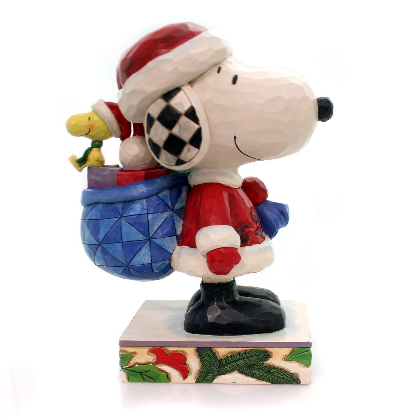 Jim Shore Here Comes Snoopy Claus Christmas Figurine