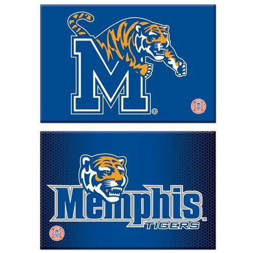 University Of Memphis Magnet Rect 2pk