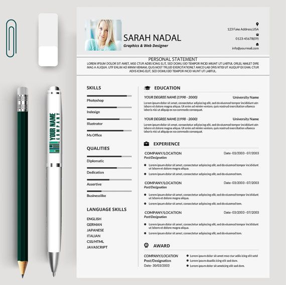 Resume Design, Resume Template, cv, cv template, creative resume - cv template download