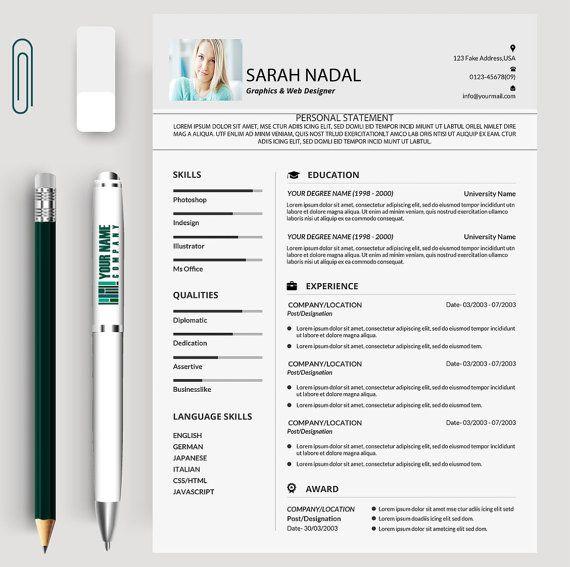 Resume Design Resume Template Cv Cv Template Creative Resume
