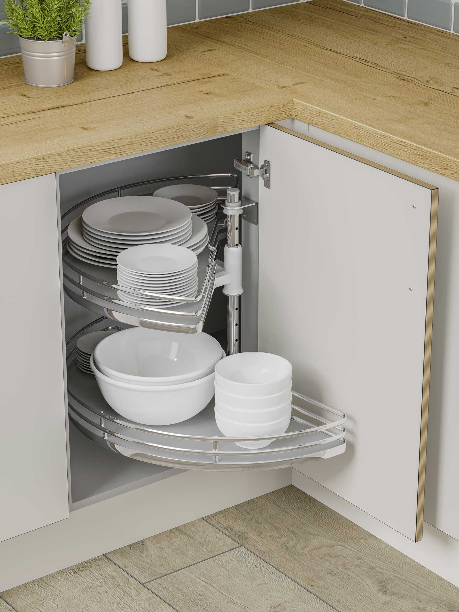Best Solid Base Half Circle Carousel Corner Kitchen Cabinet 400 x 300
