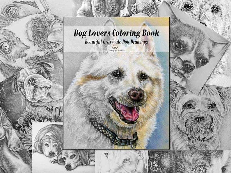 Grayscale Dog Coloring Pages Images