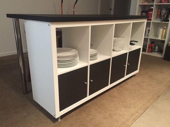 Ikea Kallax Kast : Maak van de ikea kallax kast een prachtige bar of keukeneiland
