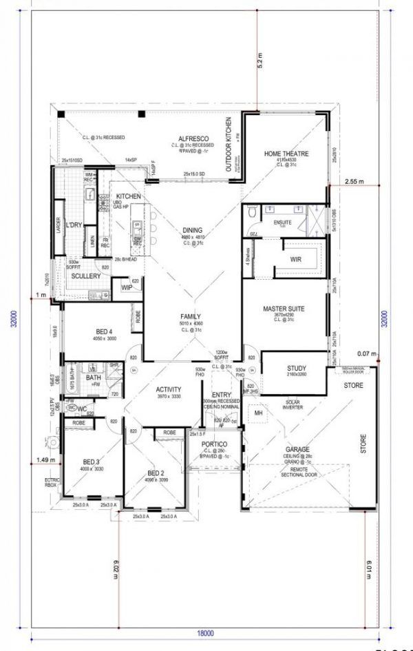 Floor Plan Friday Scullery And Laundry On The Back Dream House Plans Floor Plans House Plans