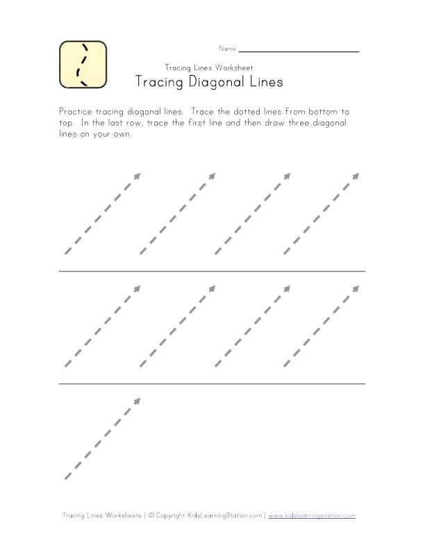 FREE 6 Trace Line -Writing Preparation Worksheets | Writing ...