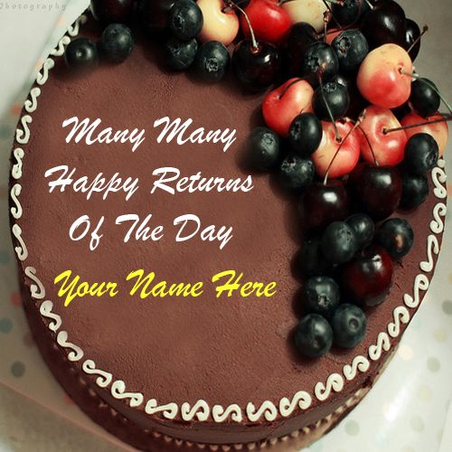 Birthday Chocolate Cake Images With Name Editor Ideas ...