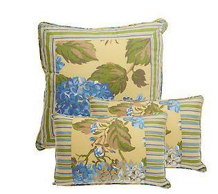 3-piece Hydrangea Decorative Pillow Set by     Valerie