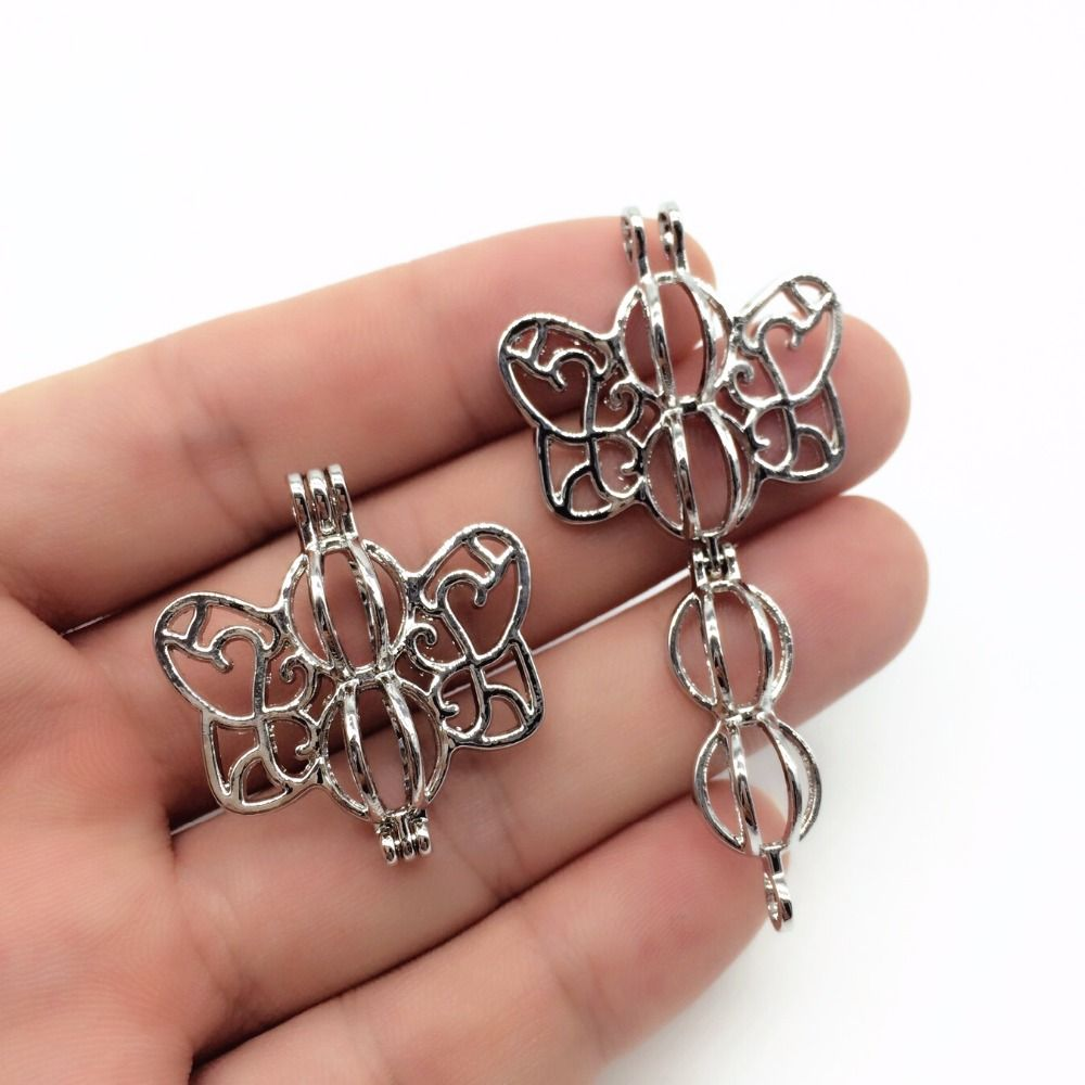 Pcs dark silver hollowed cute butterfly trendy necklace jewelry