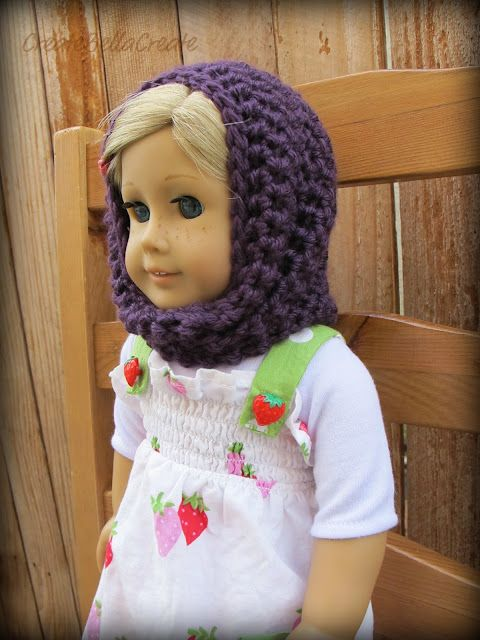 Crochet Pattern: Convertible Cowl for an American Girl Doll | gorros ...