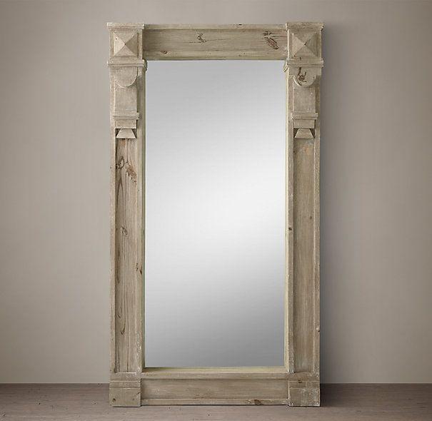 American Windows Bathroom: 19th C. American Neoclassical Window Mirror