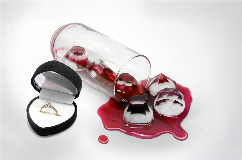 Cool Jewels Diamonds Ice Cube Tray Mold