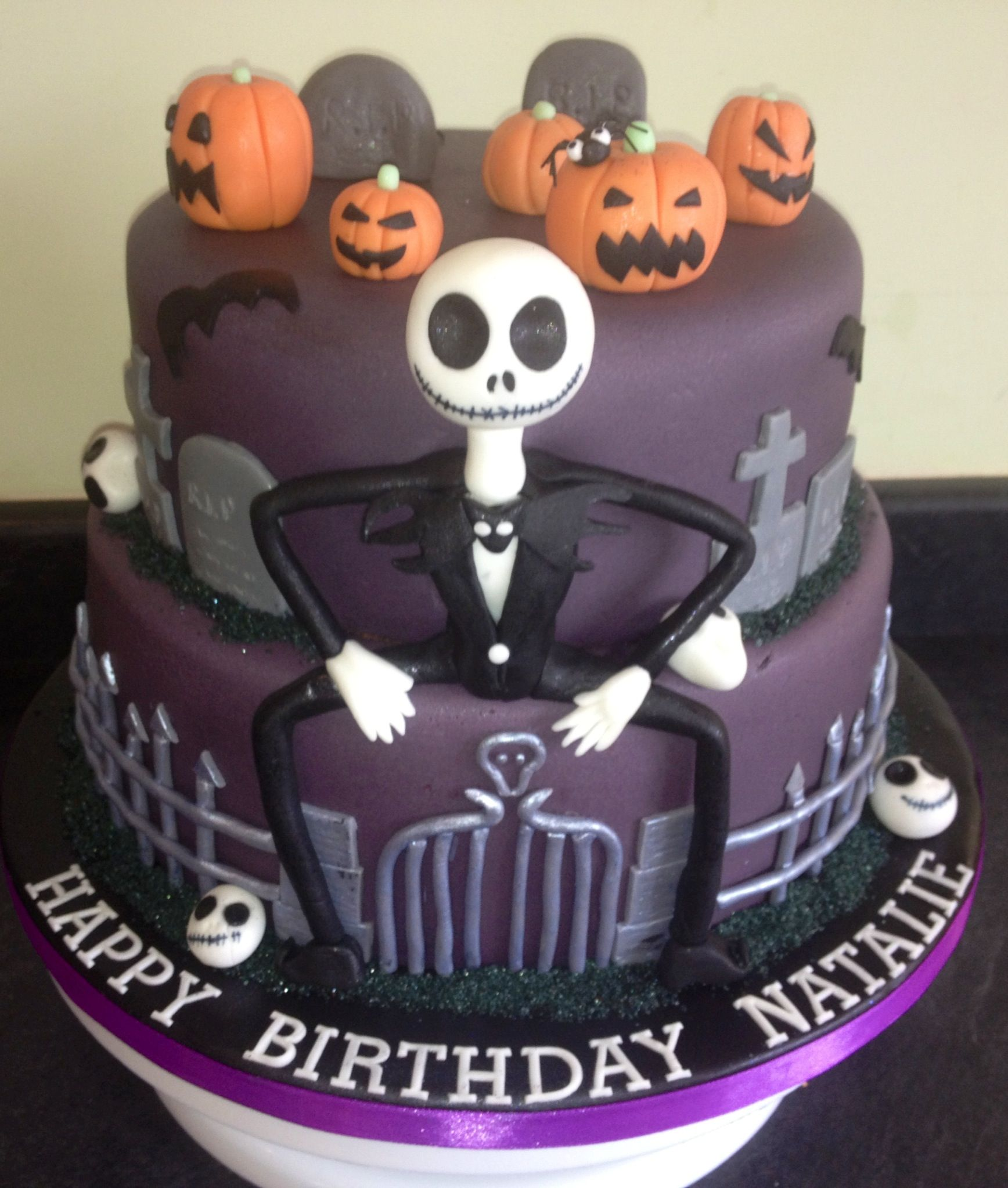 The Nightmare Before Christmas Themed Cake Hadleys Party