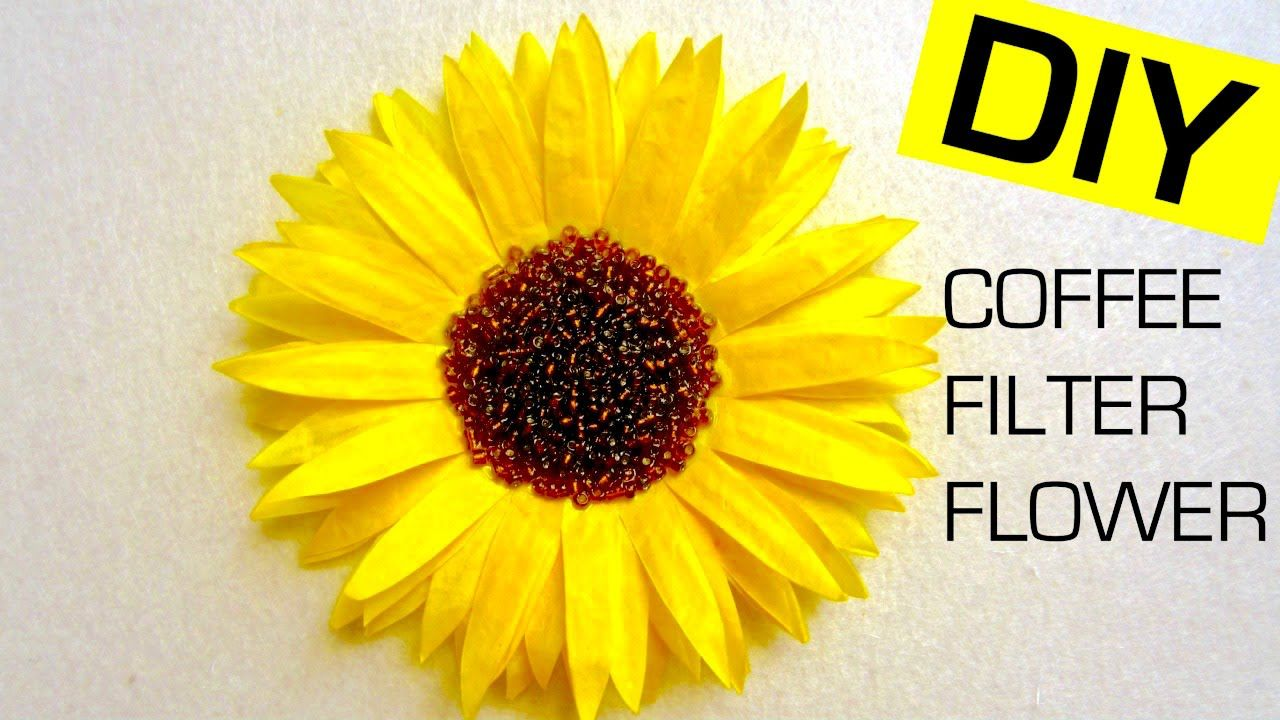 Diy Coffee Filter Flower Sunflower How To Dye Coffee Filters