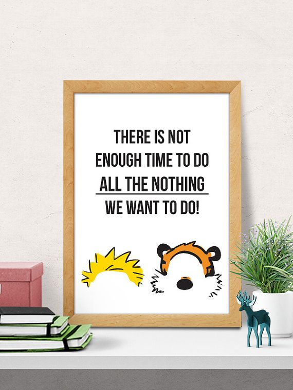 PRINTABLE art Calvin and Hobbes print, Calvin & Hobbes art, Calvin ...