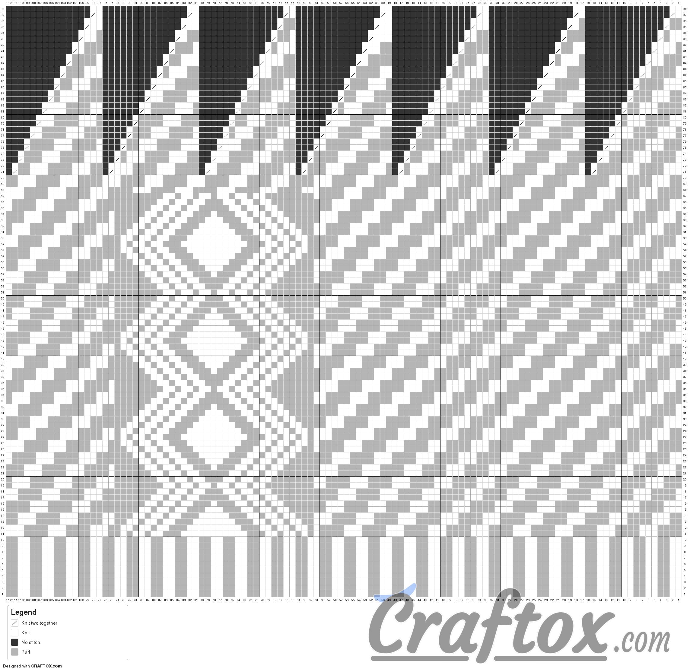 Pattern chart: Child\'s slouchy beanie hat - \