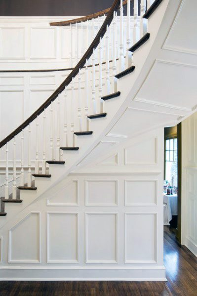 Top 60 Best Stair Trim Ideas Staircase Molding Designs Traditional Staircase Stairs Trim Staircase Molding