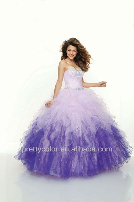bef03dc58d puffy prom dress cheap plus size ball gowns little girl quinceanera dresses  sweetheart tulle ruched fuchsia purple blue-in Prom Dresses from Apparel ...