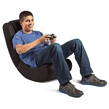 Level Up Curve Rocker Gaming Chair Grey Black Rocker Gaming