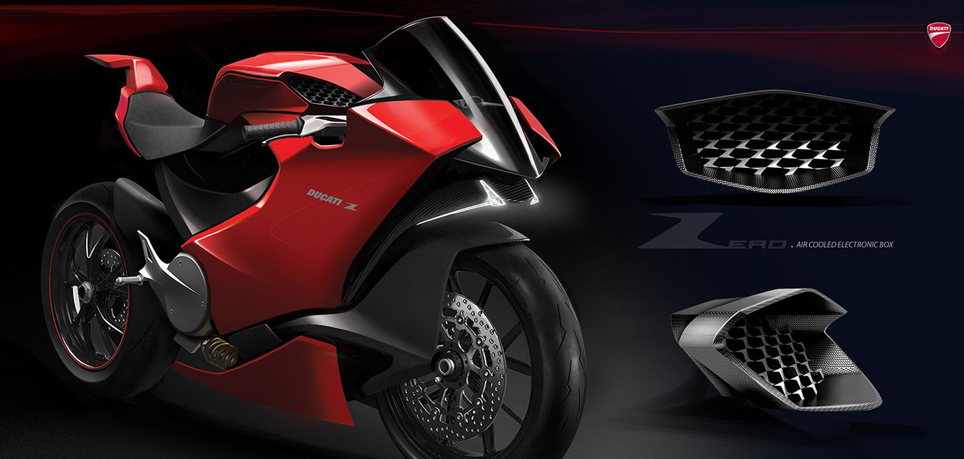 Ducati Zero Electric Supersport 2018 On Behance Motorbike