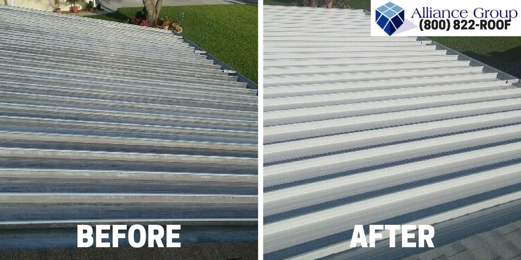 Although We Often Perform Our Roof Coating Services For Commercial Buildings Homeowners With Flat Roofs Can Enj Flat Roof Repair Residential Roofing Cool Roof